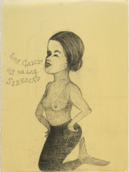 VASQUEZ DE LA HORRA SANDRA 'Los Cantos De Las Sirenas' 2010, Wax and pencil on paper, 80 x 57 cm