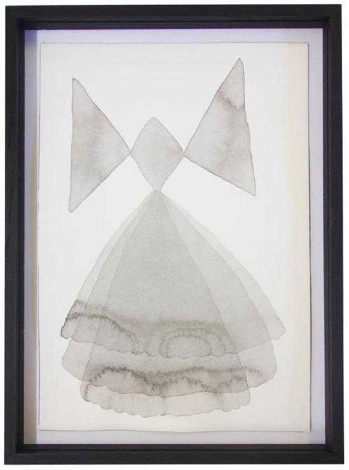 ANDREA HELLER 'Ohne Titel' (Masche), 2015, Ink on paper 26x18cm