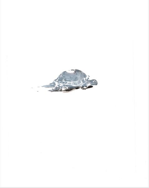 ELISABETH LLACH 'Tortue' (Hystericalsammlung) 2018, Acrylic on paper, 20,7 x 14,6 cm (sold)
