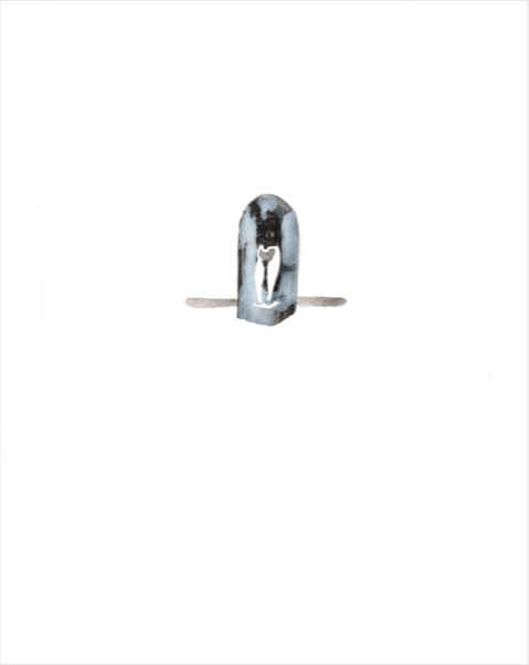 ELISABETH LLACH 'Sous Cloche' (Hystericalsammlung) 2020, Acrylic on paper, 20,7 x 14,6 cm