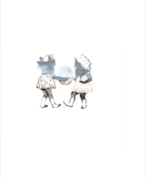 ELISABETH LLACH 'Fellini 2' (Hystericalsammlung) 2018, Acrylic on paper, 20,7 x 14,6 cm