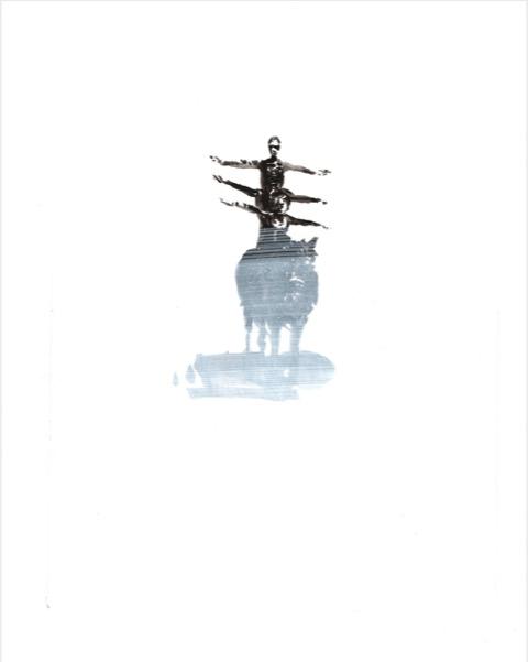ELISABETH LLACH 'Équilibre' (Hystericalsammlung) 2019, Acrylic on paper, 20,7 x 14,6 cm