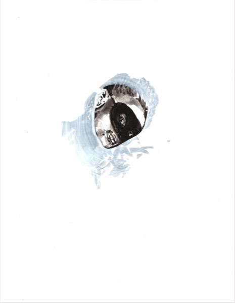 ELISABETH LLACH 'La Curieuse' (Hystericalsammlung) 2019, Acrylic on paper, 20,7 x 14,6 cm