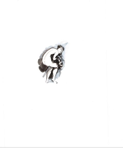 ELISABETH LLACH 'Hexe 1' (Hystericalsammlung) 2019, Acrylic on paper, 20,7 x 14,6 cm