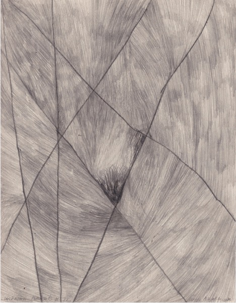 ANYA BELYAT-GIUNTA 'Unknown portraits #32' 2020, Recto/verso, graphite and liquid pencil on cut punched card, 24 x 18 cm