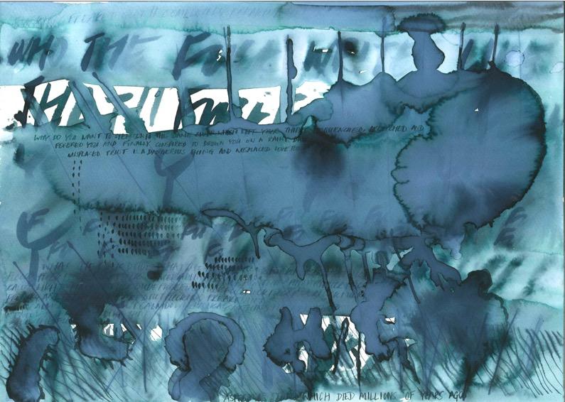 POORVI SULTANIA 'Misplaced' 2020, Ink on Paper, 30 x 12 cm
