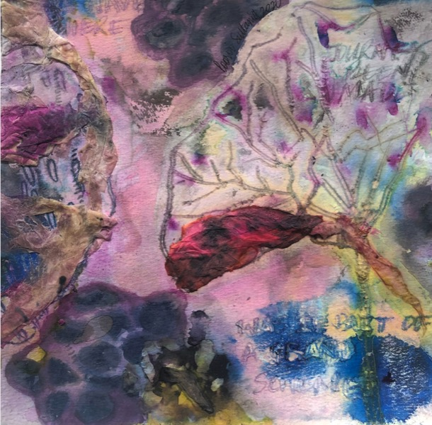 POORVI SULTANIA 'The Grand Scheme of Things' 2020, Ink, Gouache and Rice Paper on Paper, 20.5 x 21 cm