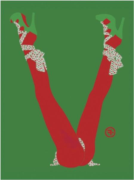 'V' 2009, Inkjet Print, 62 x 46 cm Edition of 7