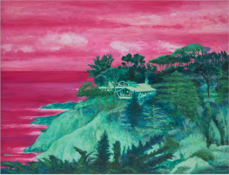LEIF TRENKLER 'Haus am Meer' 2019, Oil on wood, 98 x 130 cm