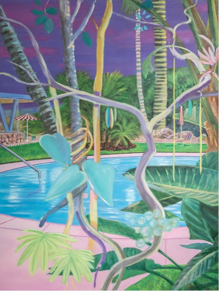LEIF TRENKLER 'Von Las Vegas nach Palm Springs' 2020, Oil on wood, 130 x 98 cm