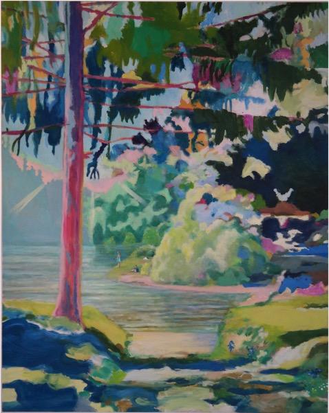 LEIF TRENKLER 'Blue Wood' 2018, Oil on wood, 162 x 130 cm