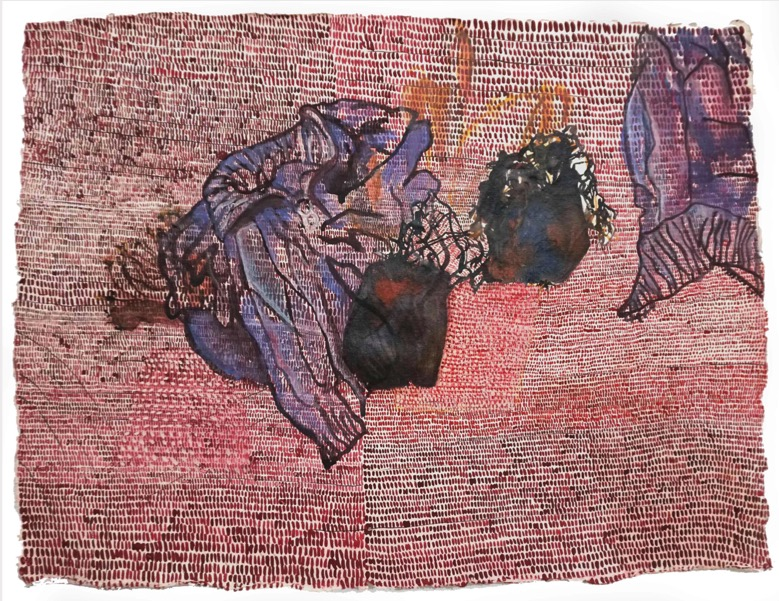 POORVI SULTANIA 'Pot and Sweater' 2020, Gouache, ink and mixed media on handmade paper, 47 x 62 cm