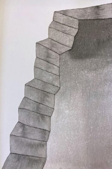 ANDREA HELLER 'untitled' 2014, Ink and watercolor on paper, 26 x 18 cm