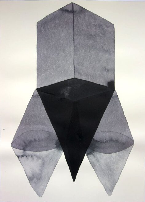 ANDREA HELLER 'Untitled' 2020, ink on paper, 36 x 26 cm