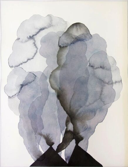 ANDREA HELLER 'untitled' 2016, ink an watercolor on paper, 40 x 30 cm