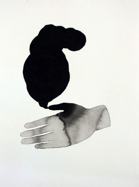 ANDREA HELLER 'untitled' 2012, ink on paper, 40 x 30 cm