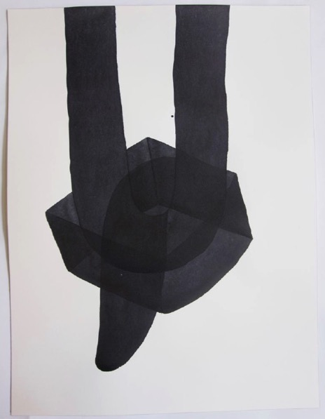 ANDREA HELLER 'Untitled', 2018, Ink on paper, 41x31cm