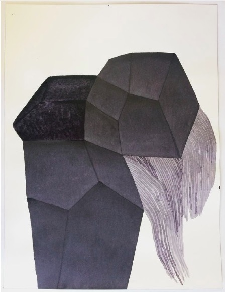 ANDREA HELLER 'Untitled', 2020, Ink on paper, 41x31cm