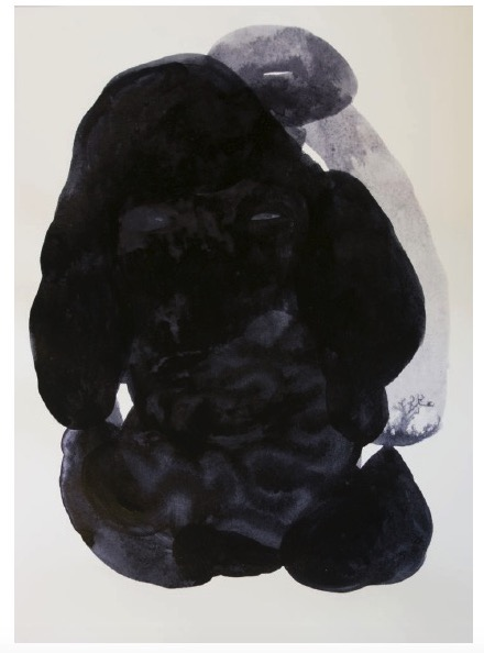 ANDREA HELLER 'Untitled', 2018, Ink on paper 41x31cm