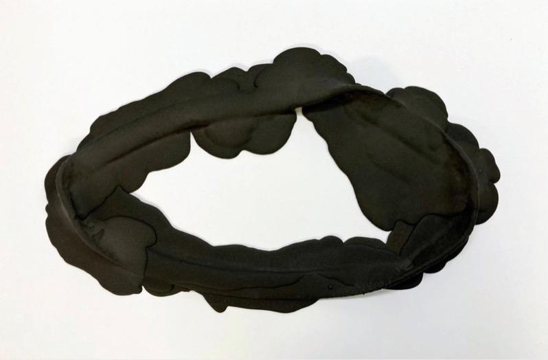 ANDREA HELLER 'Frame III', 2020, Felt, Jesmonite, indian ink, 30.5x52x4cm