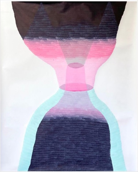 ANDREA HELLER 'Untitled', 2020, Ink on paper, 150x118cm