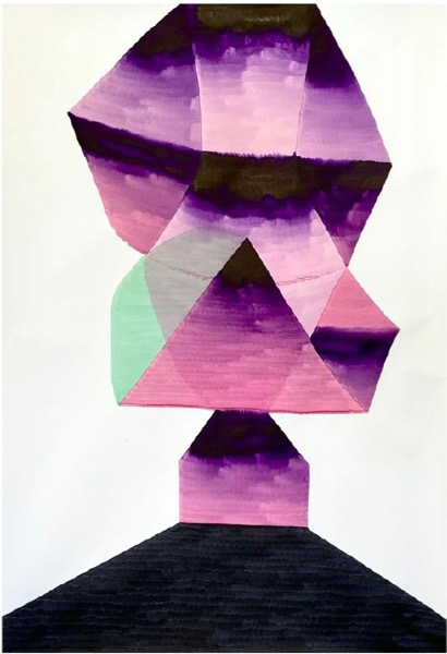 ANDREA HELLER 'Untitled', 2020, Ink on paper, 147x104.5 cm