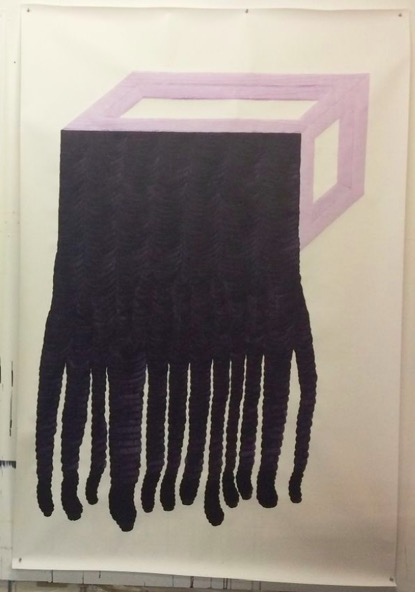 ANDREA HELLER 'Untitled', 2020, Ink on paper, 200x150 cm
