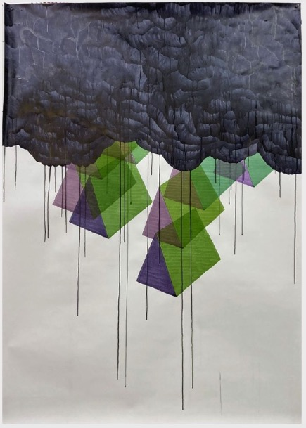 ANDREA HELLER 'Untitled', 2020, Ink on paper, 190x145 cm
