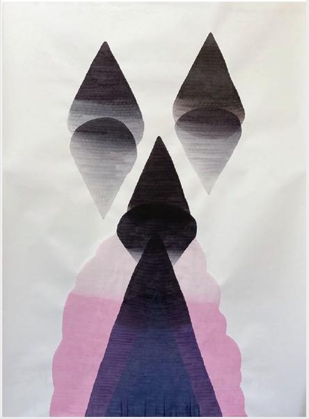 ANDREA HELLER 'The wrong Door', 2020, Ink on paper, 200x150cm