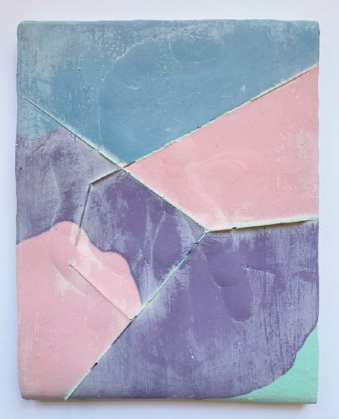ANDREA HELLER 'Untitled' (from the series 'Zones'), 2021, plaster, ink, felt, 27.5 x 20.5 x 2.5 cm