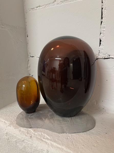 ANDREA HELLER 'Shell-Structure II' 2021, Handmade glass, ceramic, 20 X 20 X 16 cm