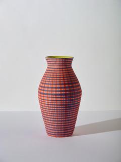 SIMONE FENNEL 'Alba' 2021, Keramik, Steinzeugton beige, Handaufbau 67 x 37 cm