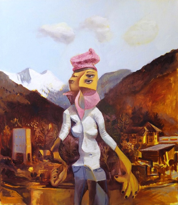 STÉPHANE ZAECH 'Matin d'hiver 3', 2020, Oil on canvas, 80 x 70 cm