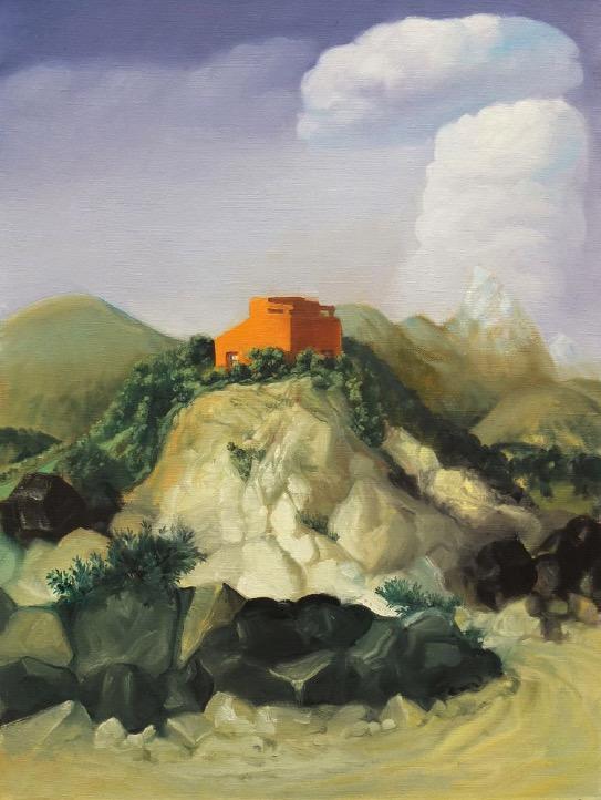 STÉPHANE ZAECH 'Sunset House 2', 2018, Oil on canvas, 80 x 60 cm