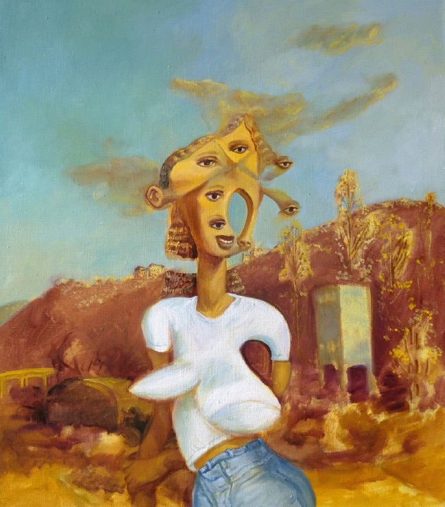 STÉPHANE ZAECH 'Matin d'hiver 1',  2020, Oil on canvas, 80 x 70 cm