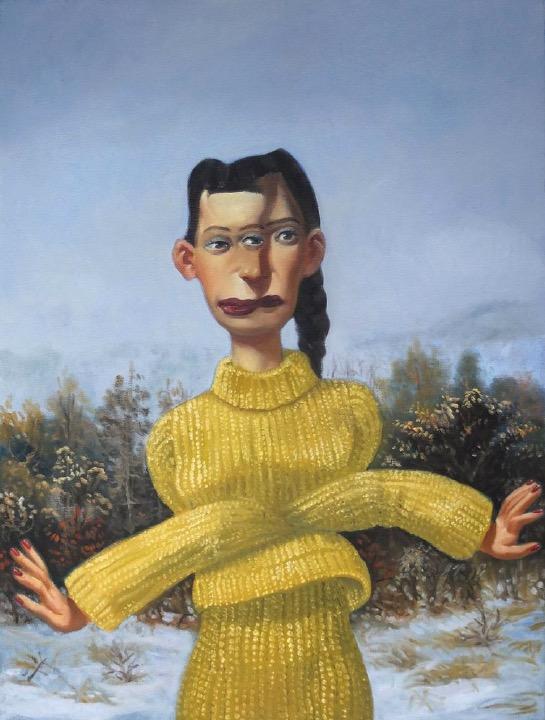 STÉPHANE ZAECH 'Femme aux bras croisés',  2020, Oil on canvas, 80 x 60 cm