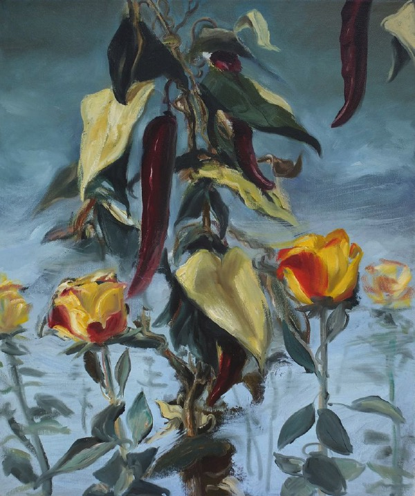 STÉPHANE ZAECH 'Hybris', 2012, Oil on canvas, 60 x 50 cm