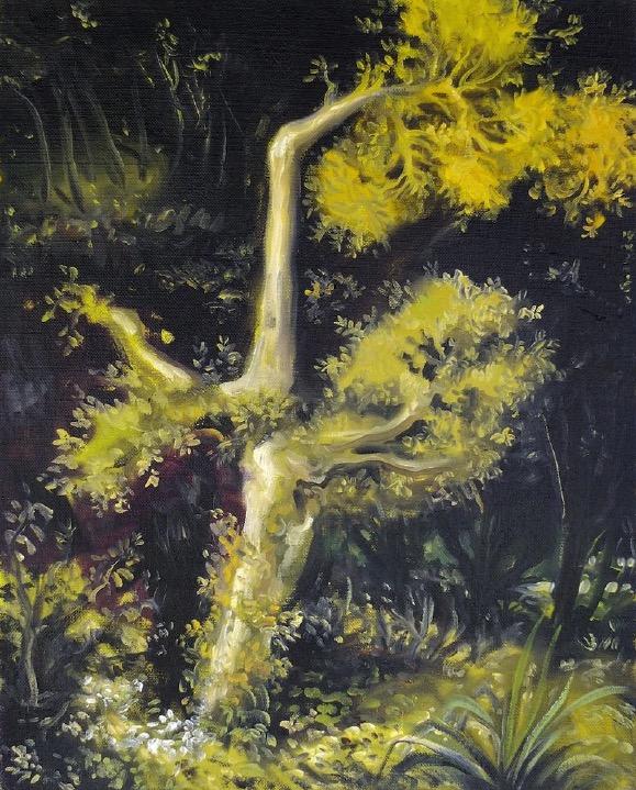 STÉPHANE ZAECH 'Le feuillu 2', 2015, Oil on canvas, 50 x 40 cm