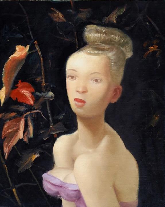 STÉPHANE ZAECH 'Devant la vigne', 2018, Oil on canvas, 50 x 40 cm
