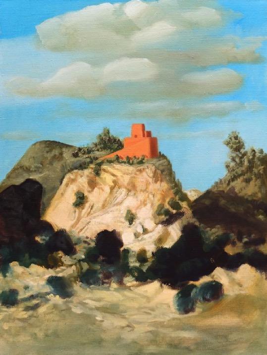 STÉPHANE ZAECH 'Sunset House 1', 2018, Oil on canvas, 80 x 60 cm