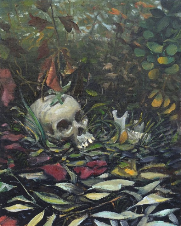 STÉPHANE ZAECH 'Le lauréat', 2019, Oil on canvas, 50 x 40 cm