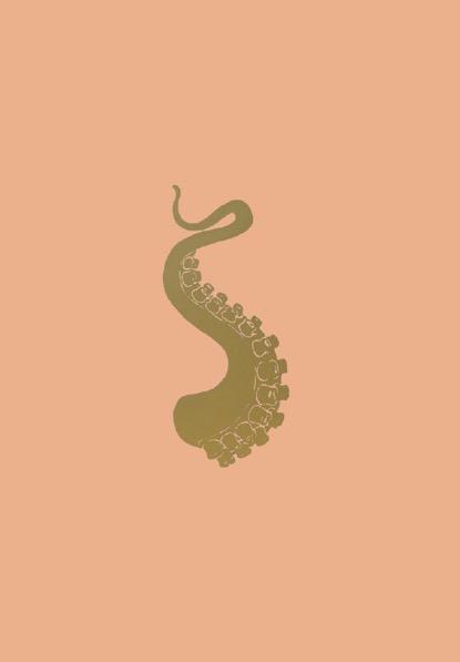 FRANÇOIS BERTHOUD 'Octopus' 4, 2020, Oil and imitation gold pigment on paper, 50 x 35 cm, unique
