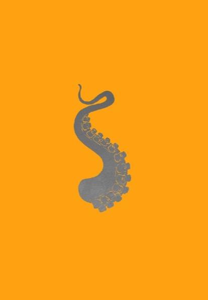 FRANÇOIS BERTHOUD 'Octopus' 7, 2020, Oil and imitation silver pigment on paper, 50 x 35 cm, unique