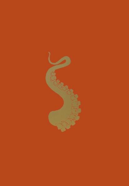 FRANÇOIS BERTHOUD 'Octopus' 9, 2020, Oil and imitation gold pigment on paper, 50 x 35 cm, unique