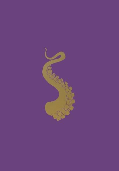 FRANÇOIS BERTHOUD 'Octopus' 18, 2020, Oil and imitation gold pigment on paper, 50 x 35 cm, unique